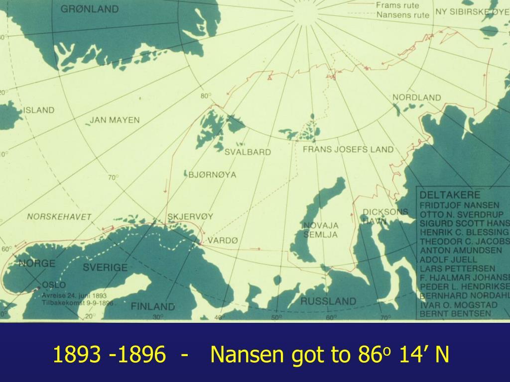1893 -1896  -   Nansen got to 86