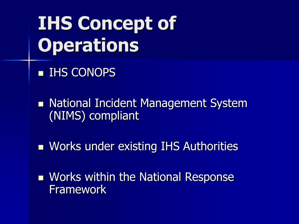 IHS Concept of Operations