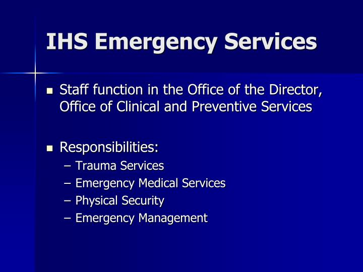 Ihs emergency services