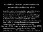 house price function of house characteristics school quality neighborhood effects18
