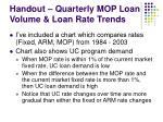 handout quarterly mop loan volume loan rate trends