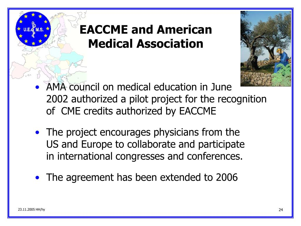 EACCME and American                     Medical Association