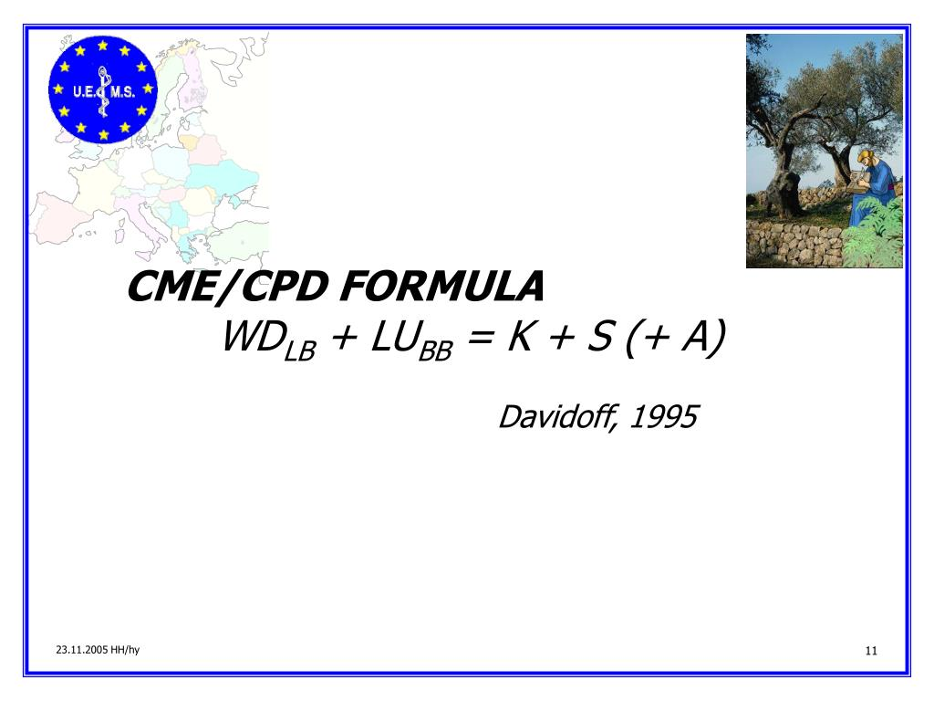CME/CPD FORMULA