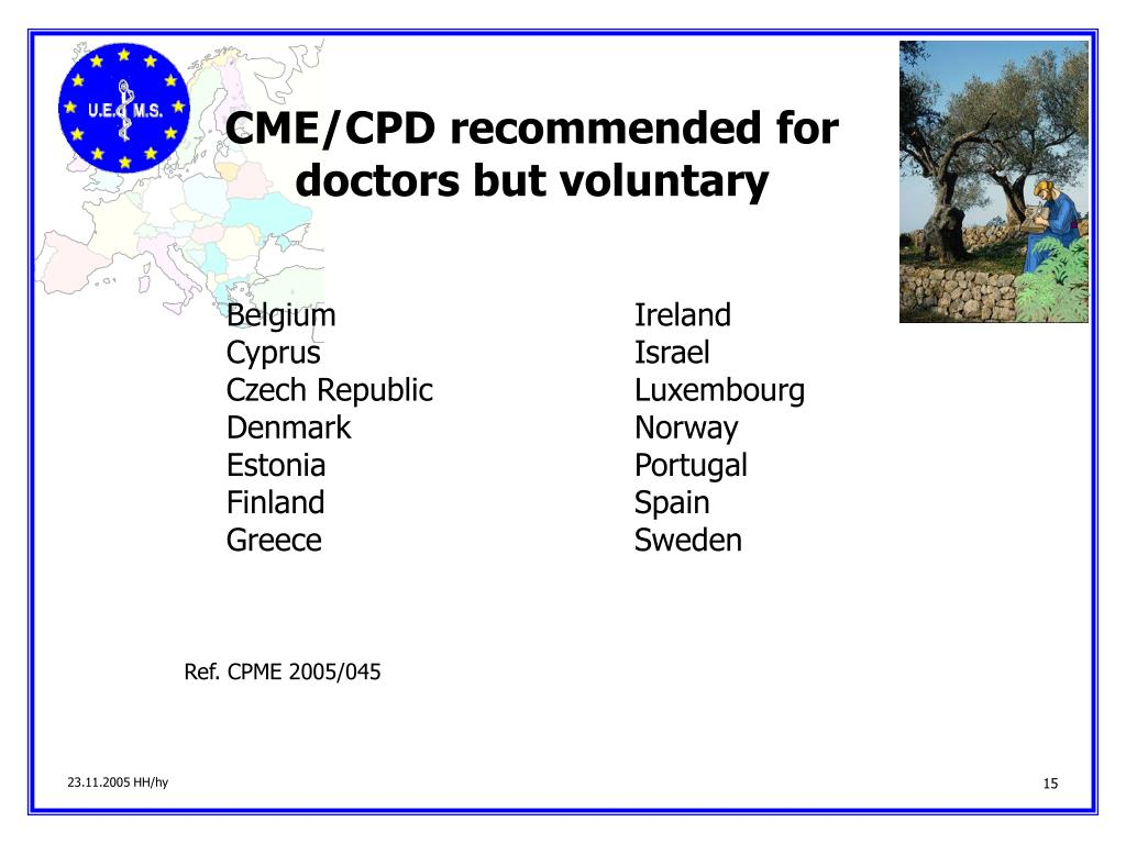 CME/CPD recommended for doctors but voluntary