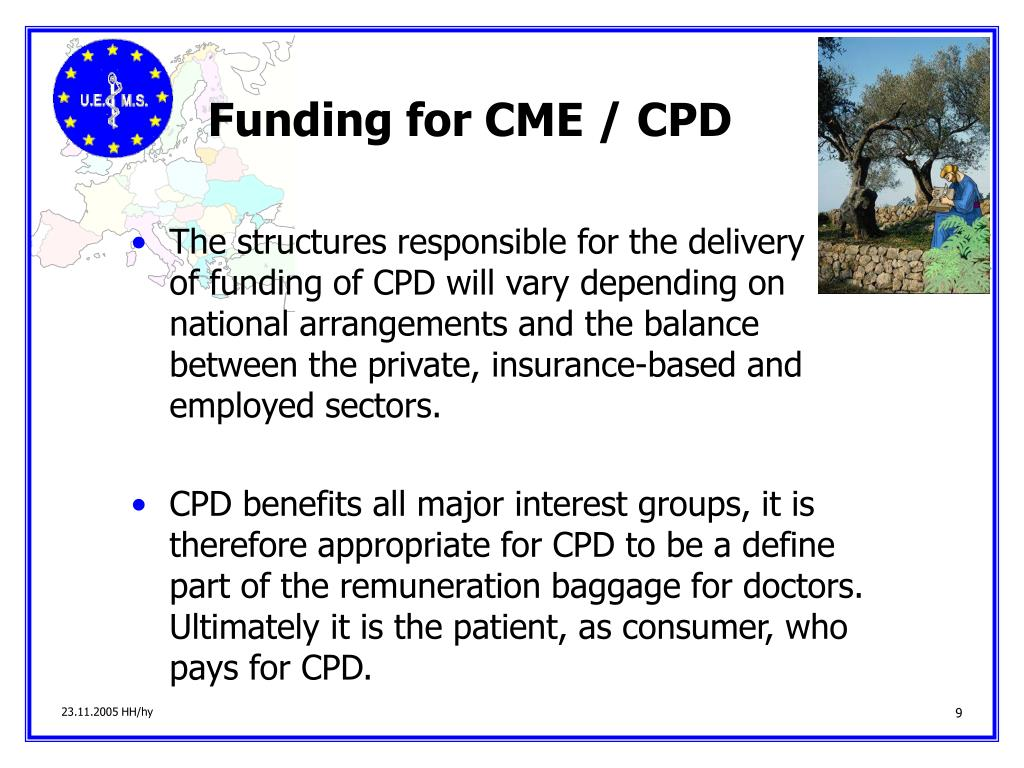 Funding for CME / CPD