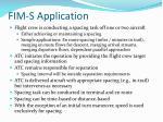 fim s application