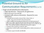 potential ground to air communication requirements 1 of 3
