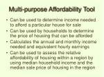 multi purpose affordability tool