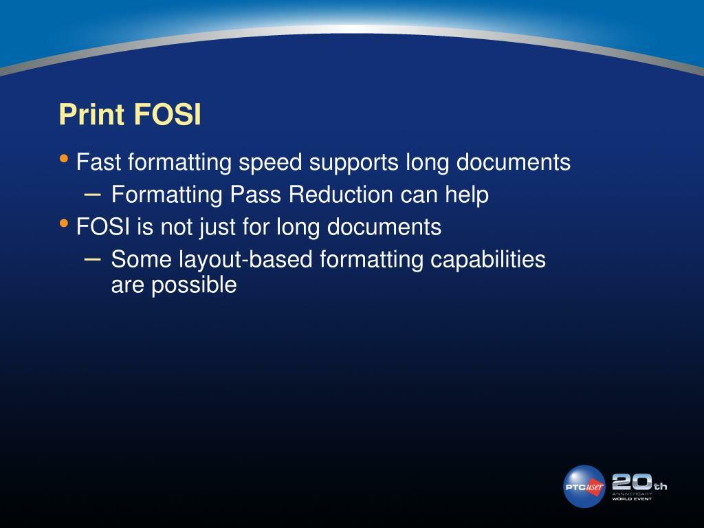 Print FOSI