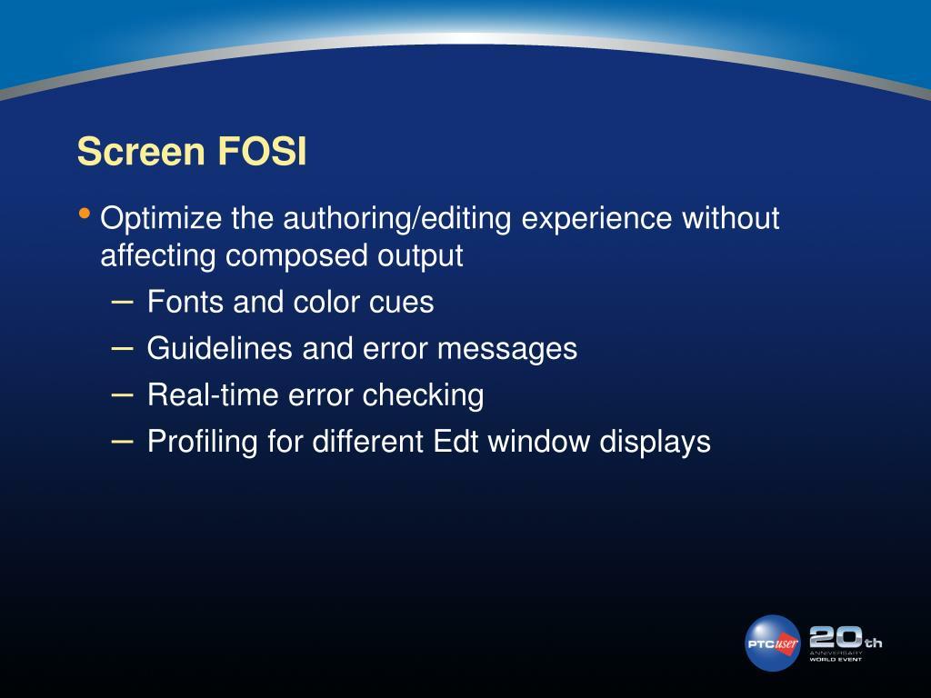 Screen FOSI