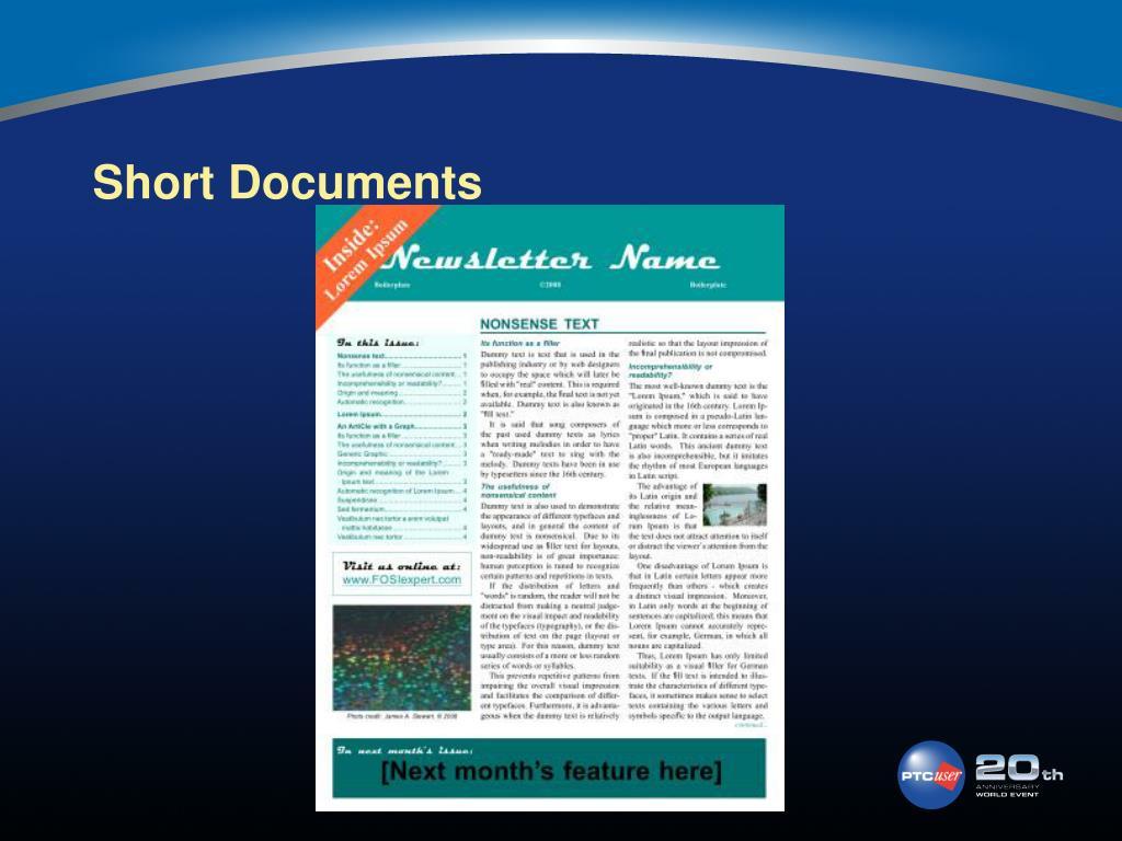 Short Documents