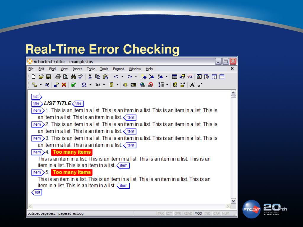 Real-Time Error Checking