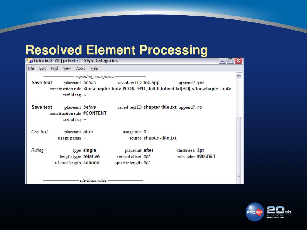 Resolved Element Processing