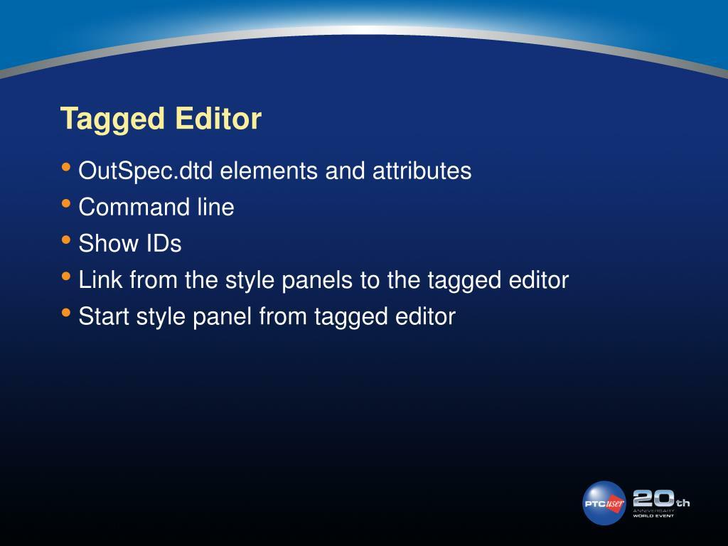 Tagged Editor