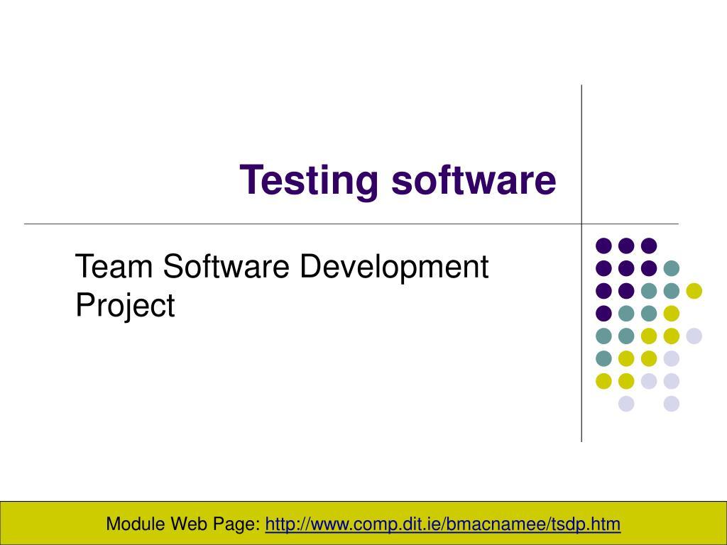 testing software l.