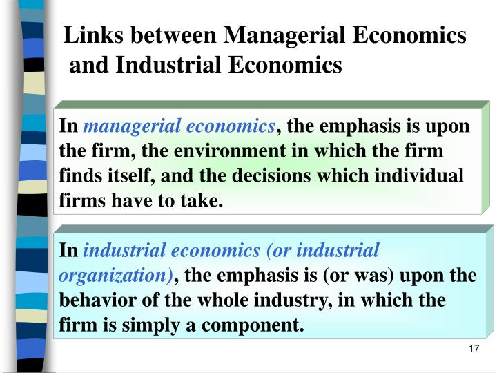 need of managerial economics