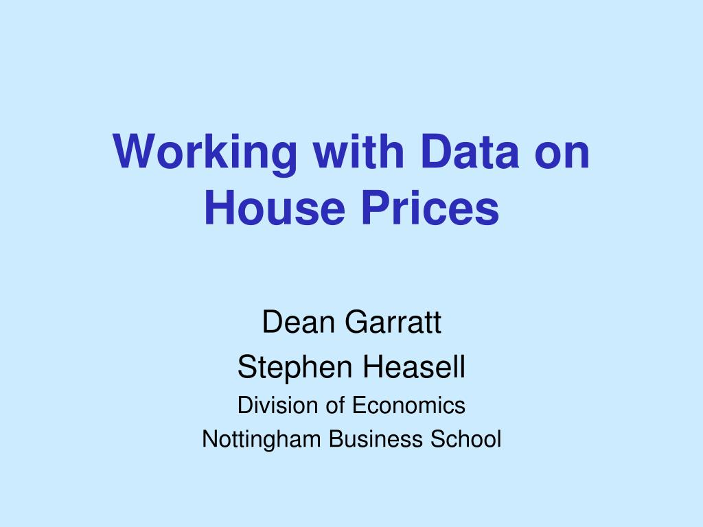 working with data on house prices l.