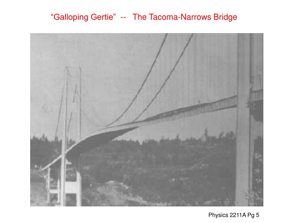 """Galloping Gertie""  --   The Tacoma-Narrows Bridge"