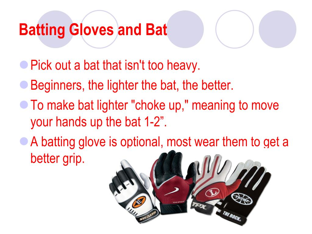 Batting Gloves and Bat