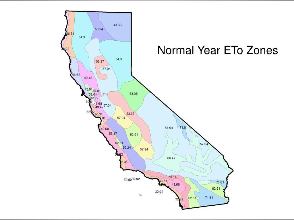 Normal Year ETo Zones