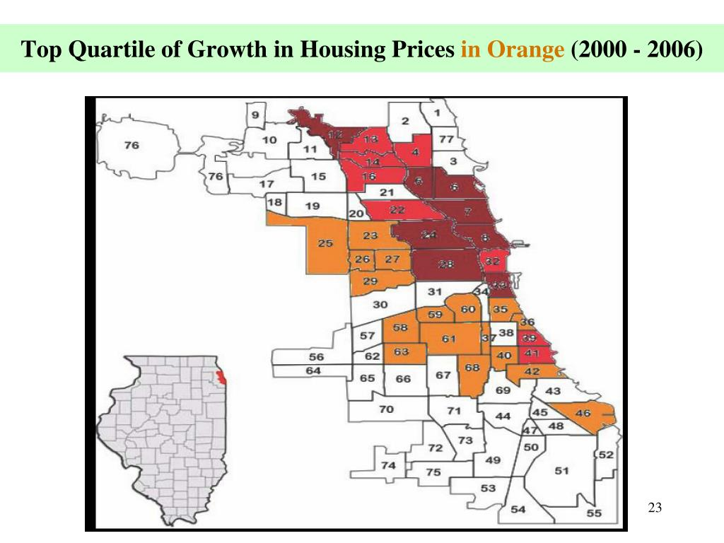 Top Quartile of Growth in Housing Prices