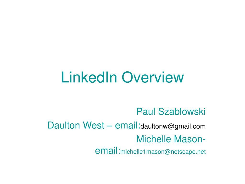 linkedin overview l.