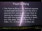 flash to bang