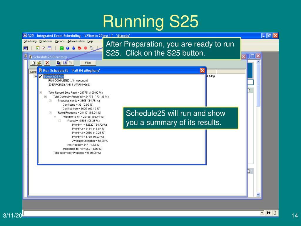 Running S25
