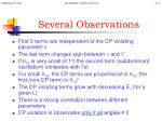 several observations