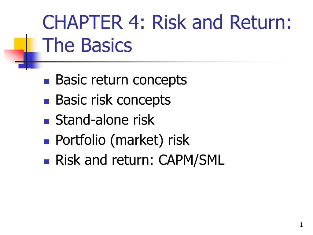 chapter 4 risk and return the basics l.