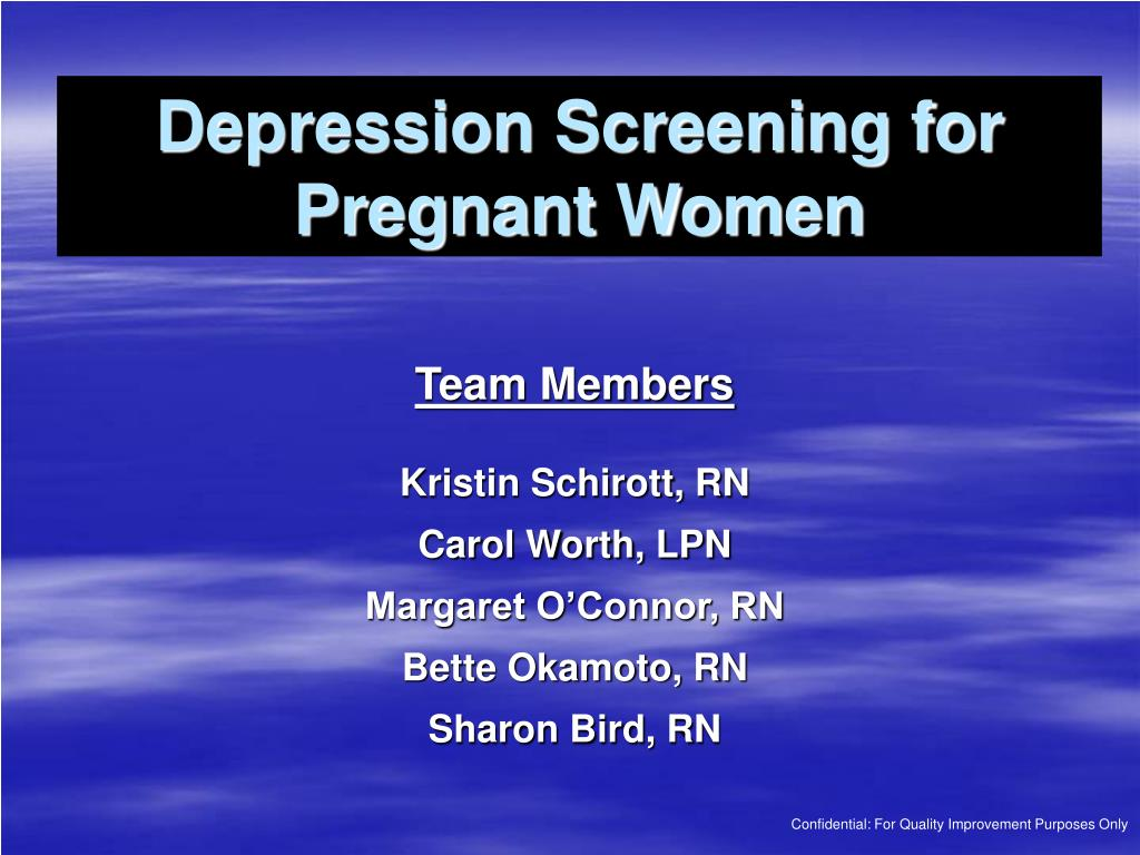 depression screening for pregnant women l.