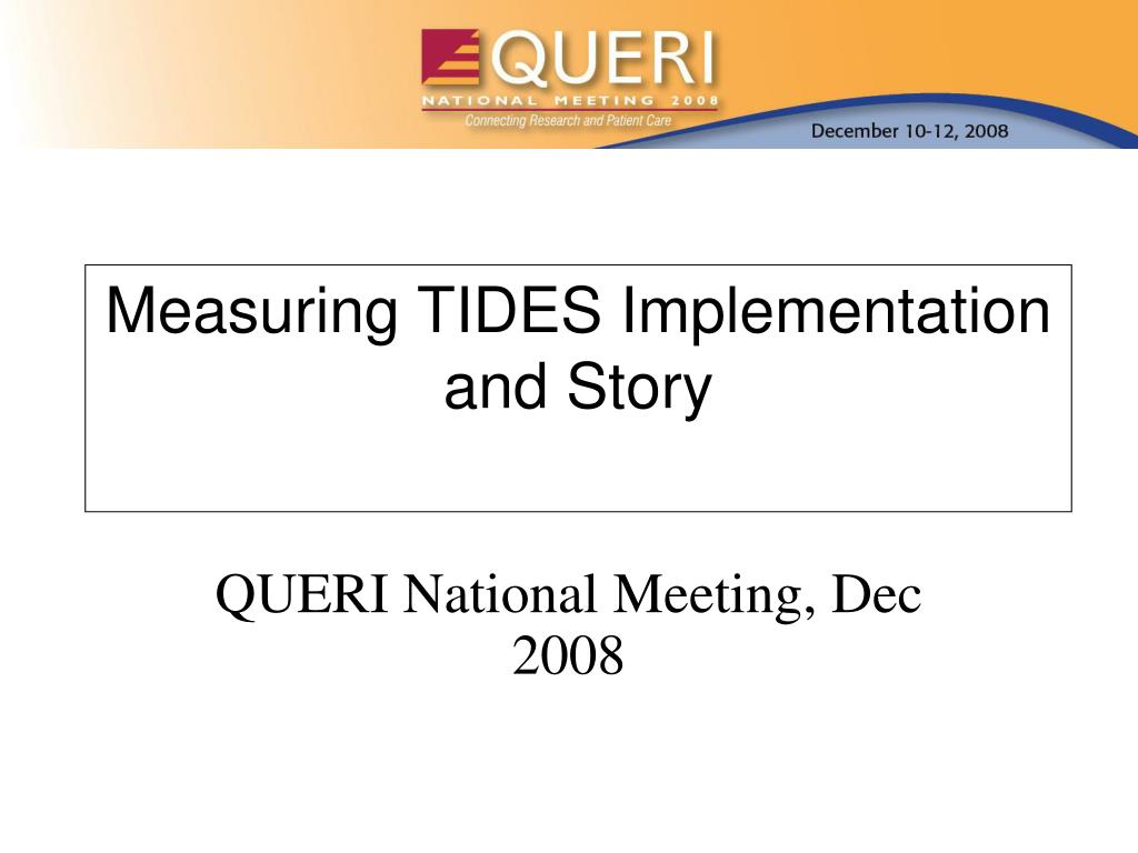 measuring tides implementation and story l.