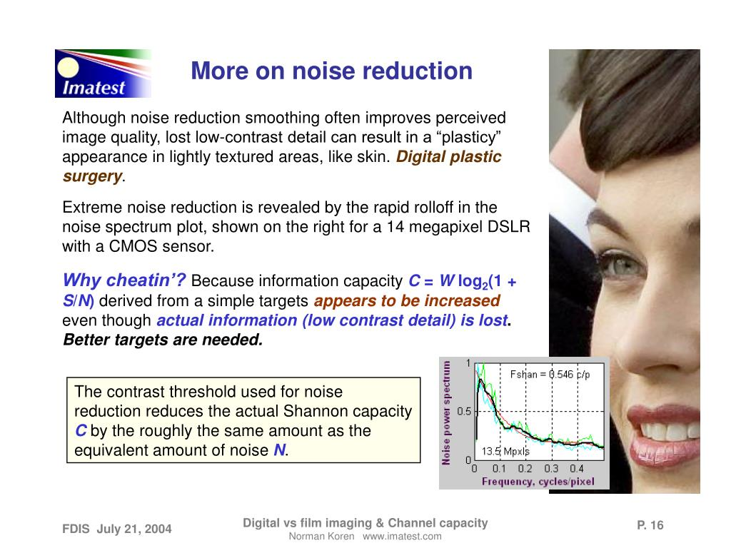 More on noise reduction