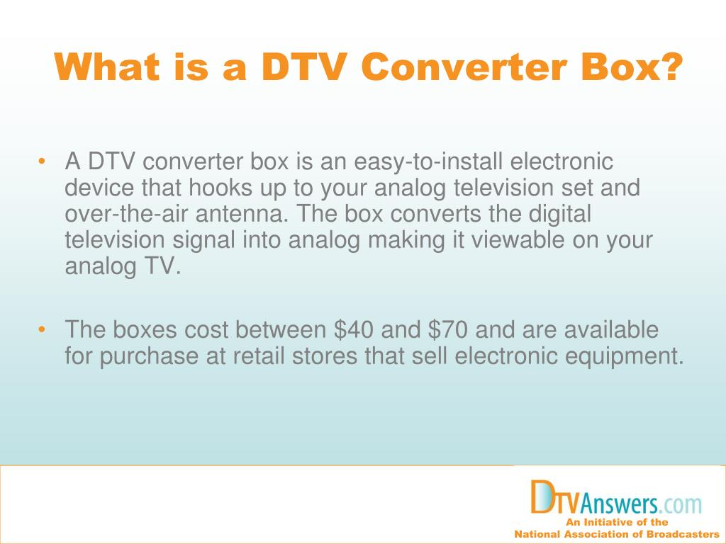 What is a DTV Converter Box?
