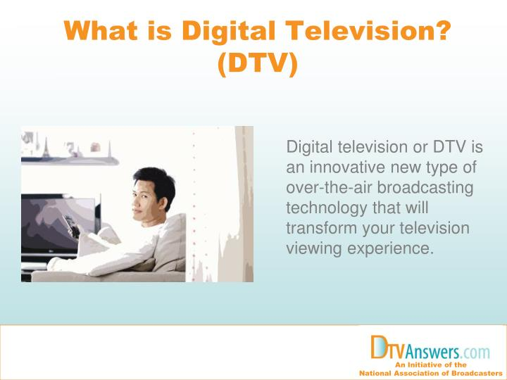 What is digital television dtv