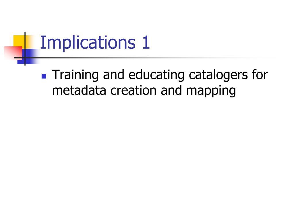 Implications 1