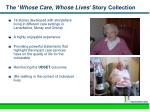 the whose care whose lives story collection