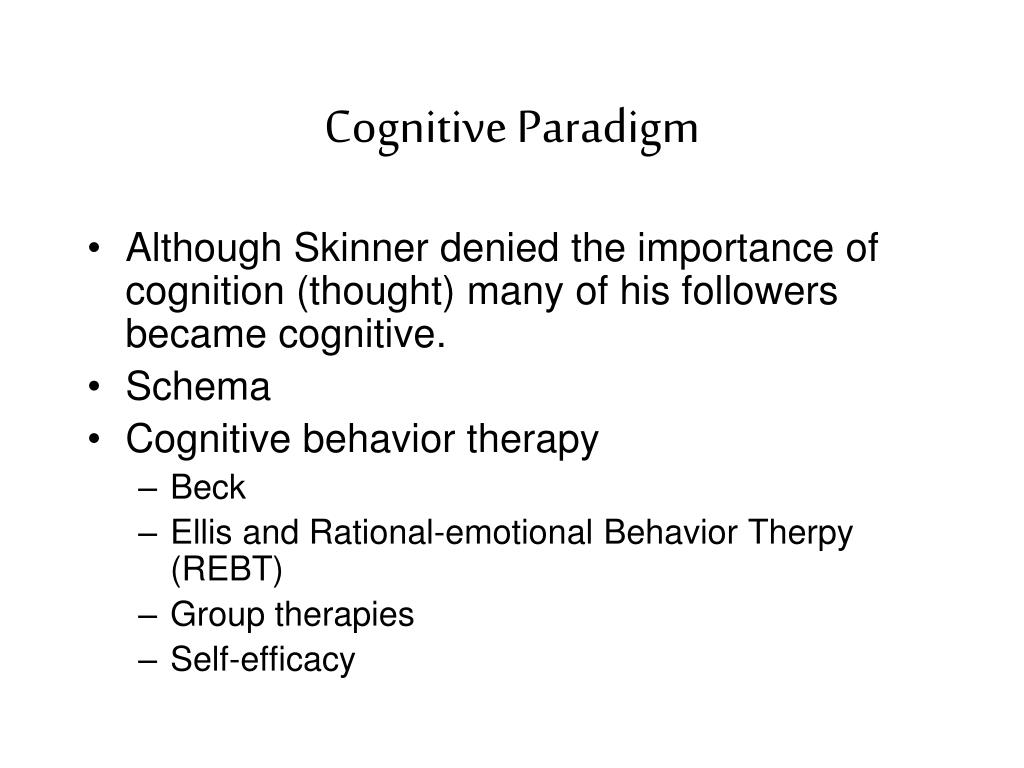 Cognitive Paradigm