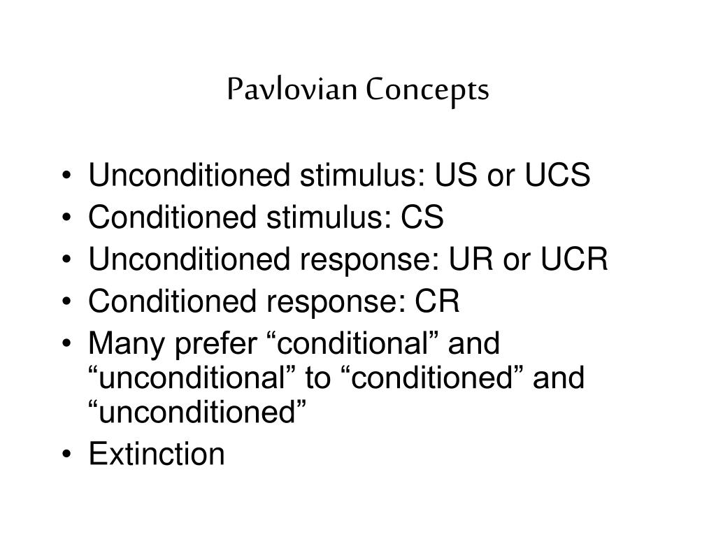 Pavlovian Concepts