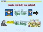 special relativity in a nutshell