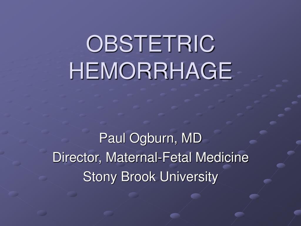 obstetric hemorrhage l.
