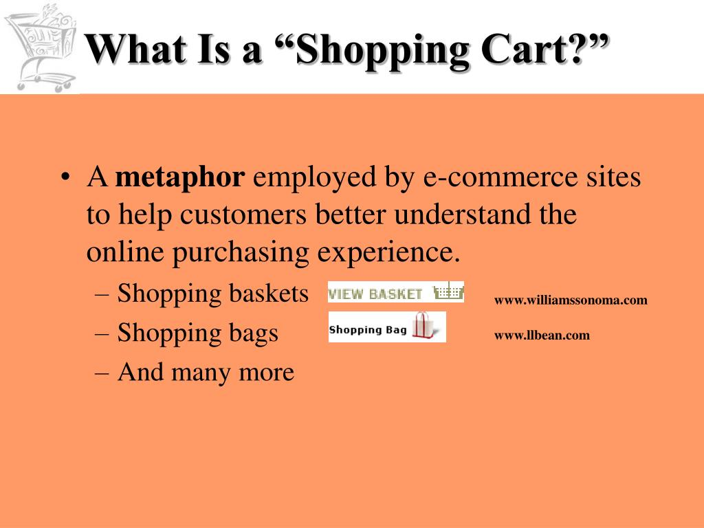 "What Is a ""Shopping Cart?"""