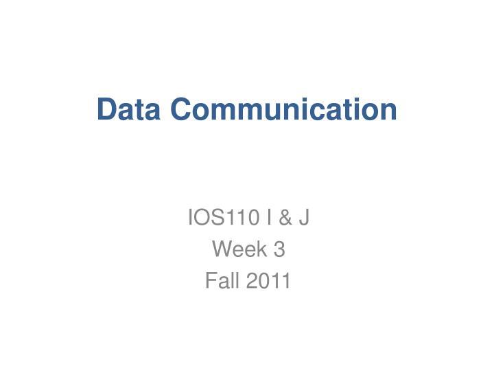 data communication n.