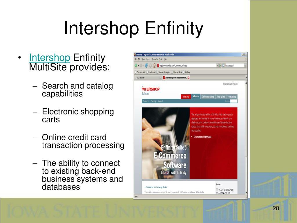 Intershop Enfinity