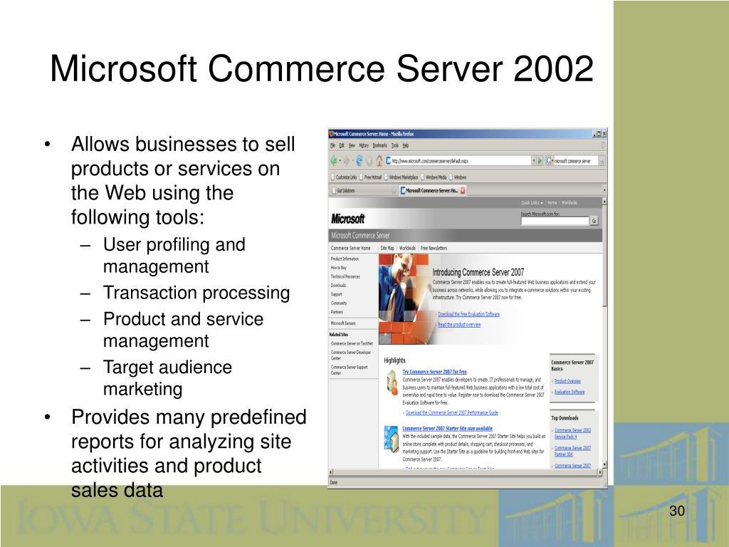 Microsoft Commerce Server 2002
