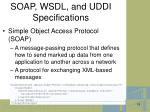 soap wsdl and uddi specifications