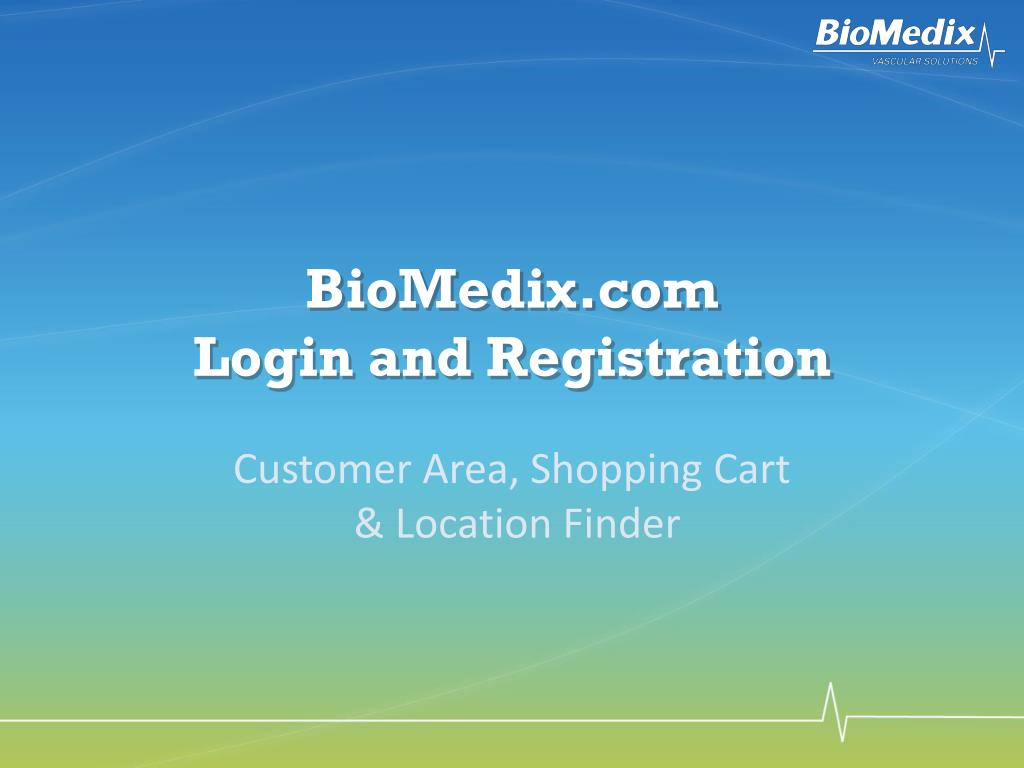 biomedix com login and registration