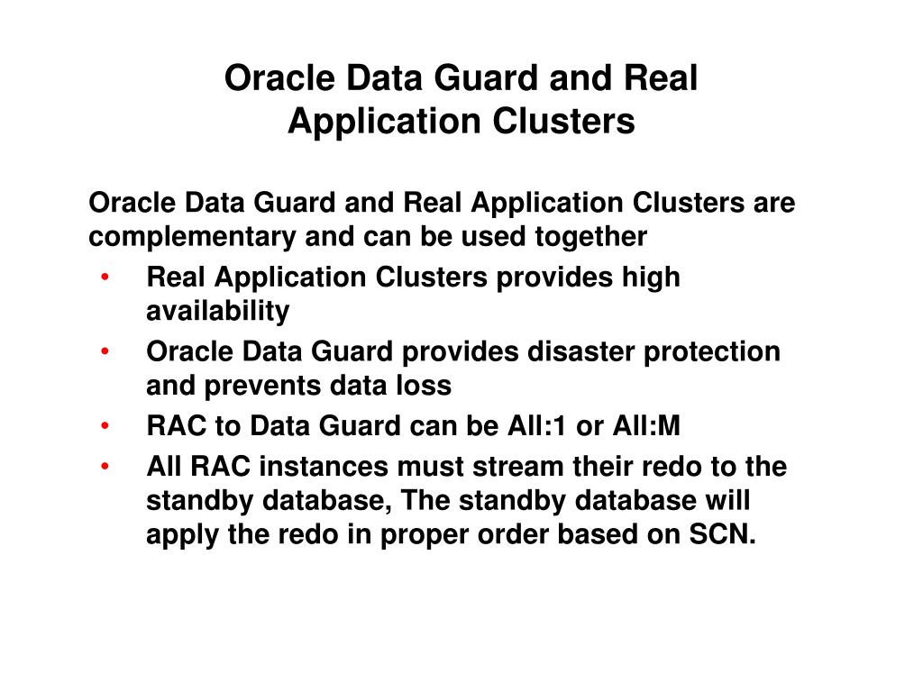 Oracle Data Guard and Real
