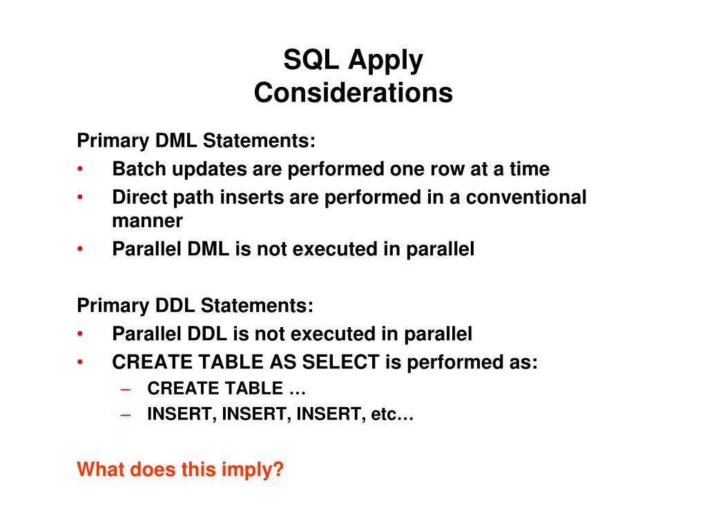 SQL Apply