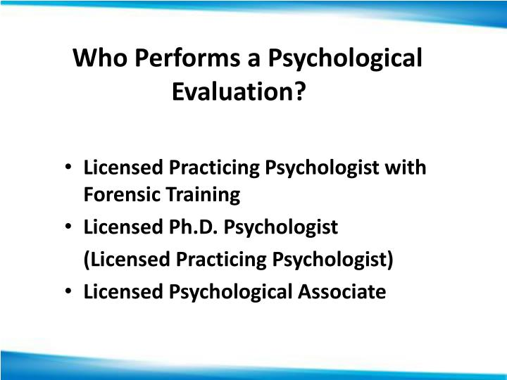 Ppt  Psychological And Parental Competency Evaluations Powerpoint